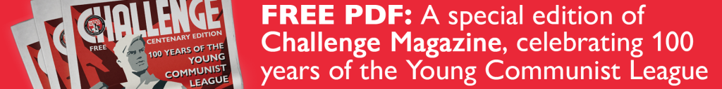 Banner advert to download the centenary edition of Challenge